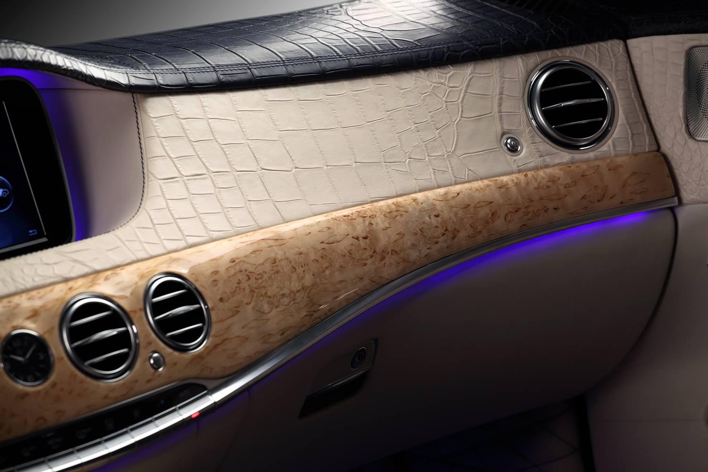 W222 Mercedes S Guard Interior Wrapped In Crocodile