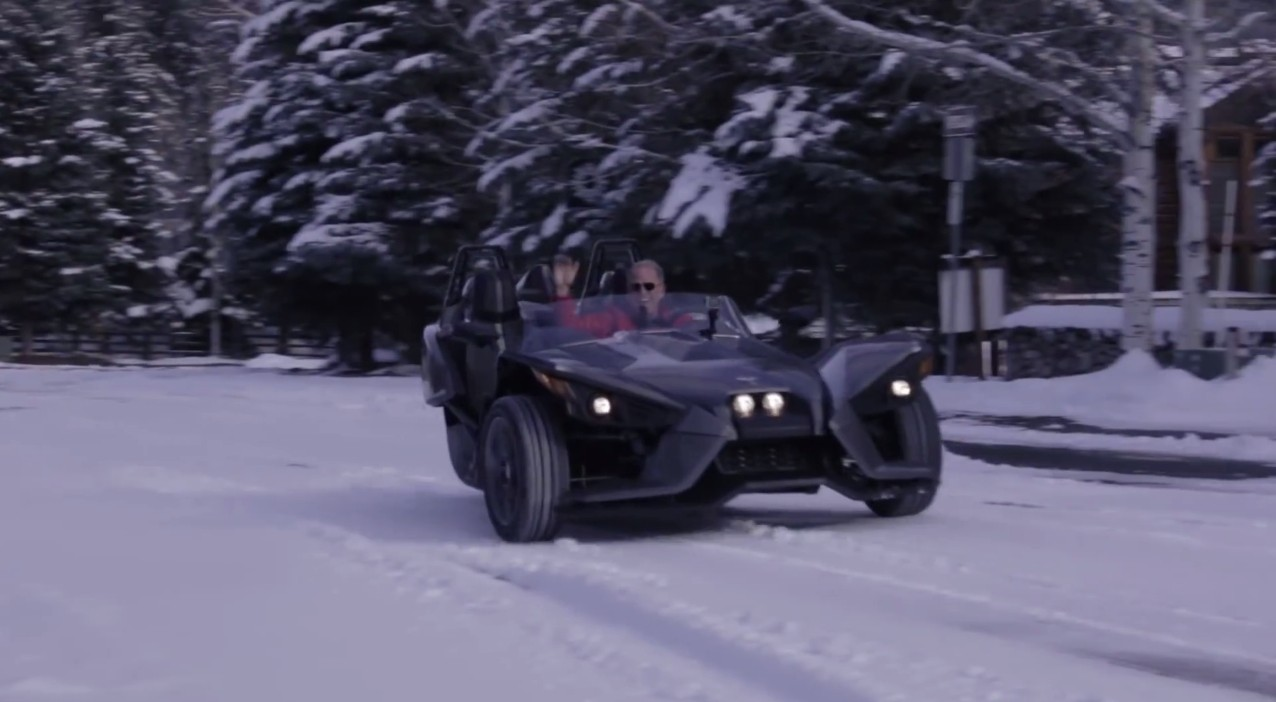 Watch A Polaris Slingshot Being Driven In The Snow