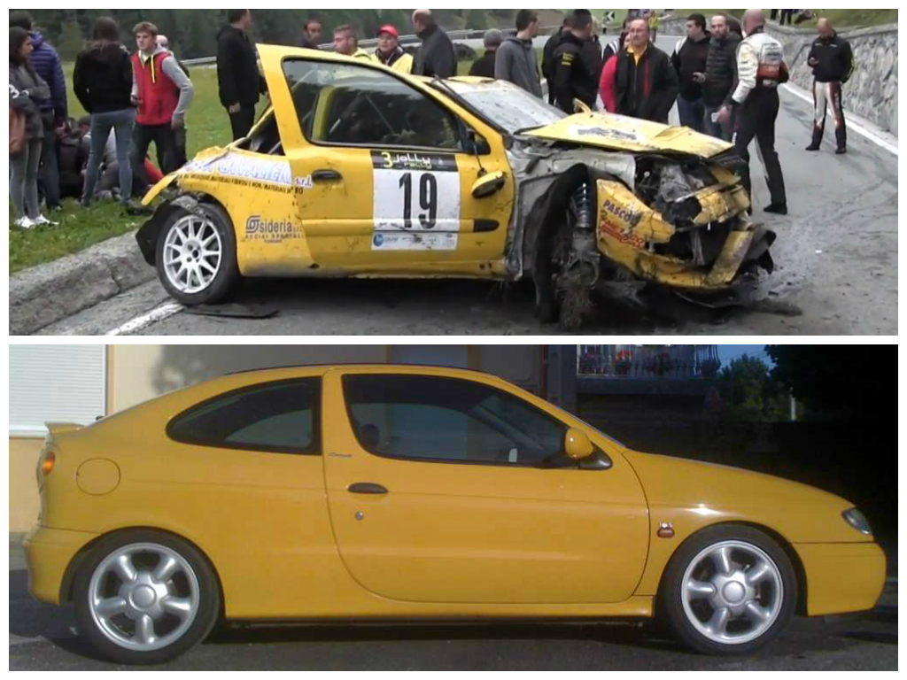 Watch A Renault Clio Rally Crash Nearly Take Out The Crowd