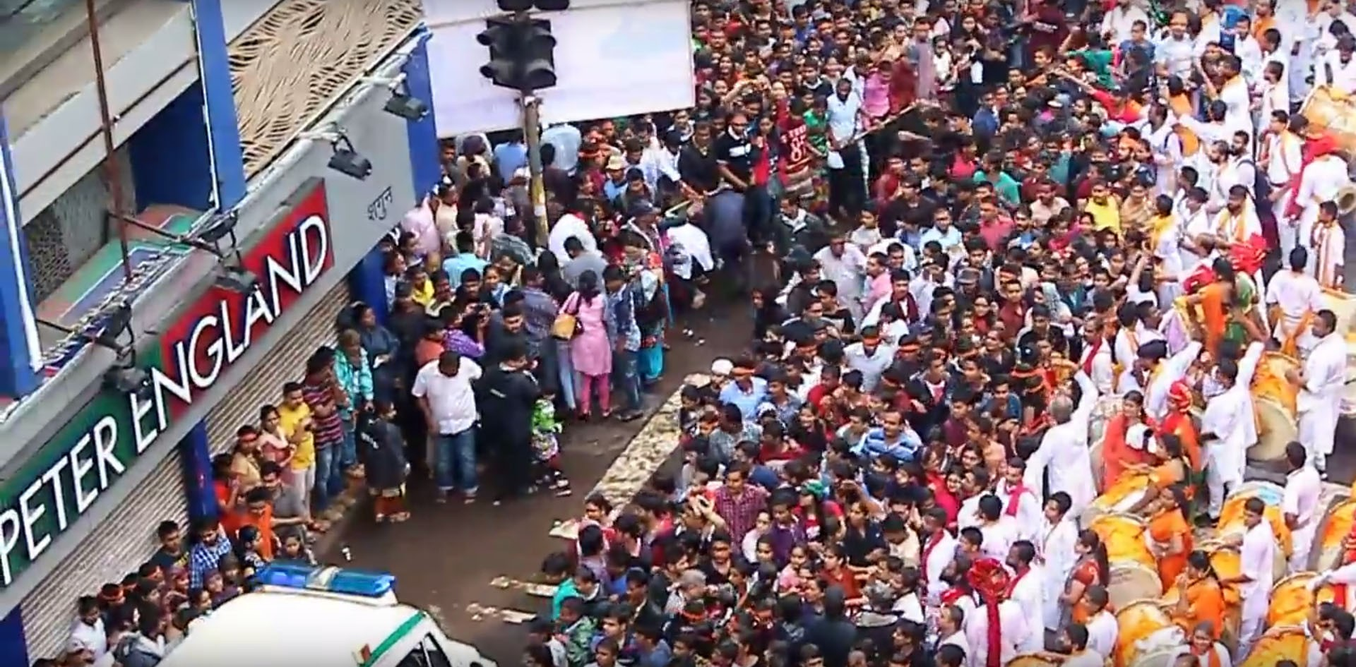 Watch An Ambulance Split A Huge Crowd In India As If Moses Was Driving