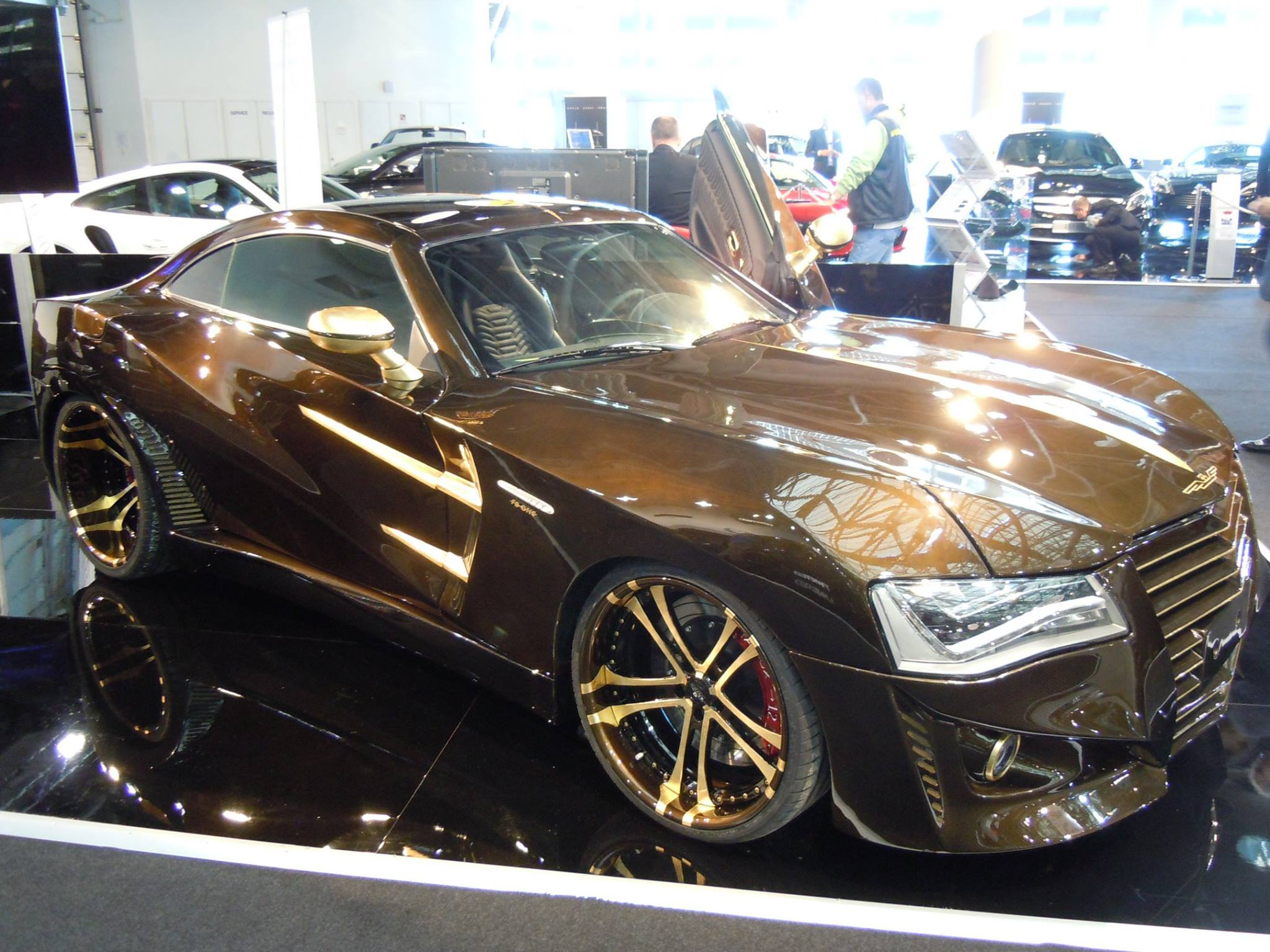 What Chrysler Crossfire With Audi A8 Headlights And Gold Wheels