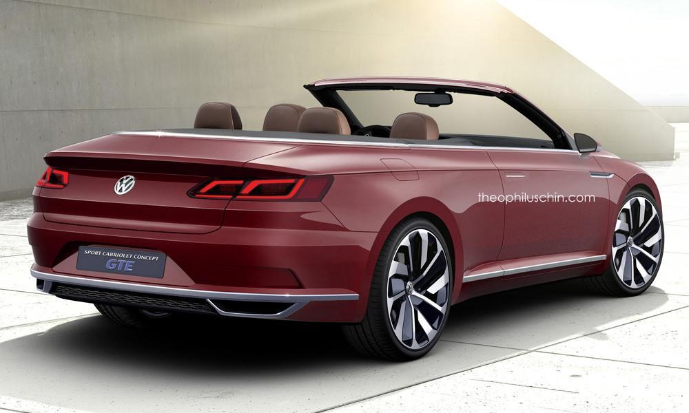 vw sport cabriolet gte rendered a future passat cabriolet autoevolution. Black Bedroom Furniture Sets. Home Design Ideas