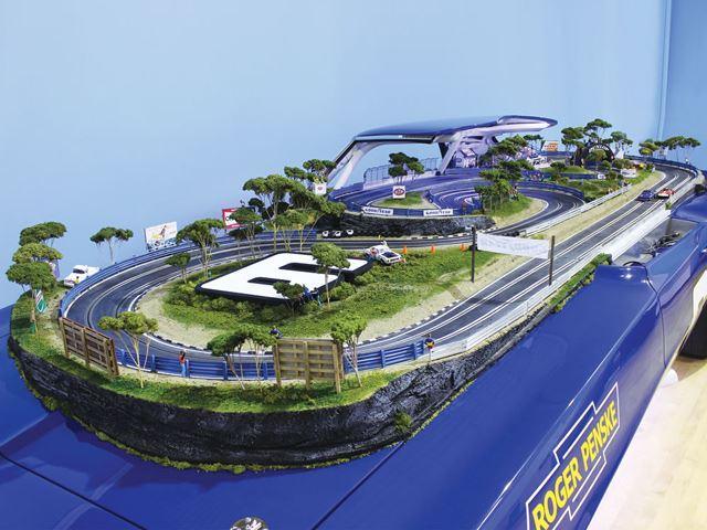 Slot Car Race Tracks Built Into Porsche 917 And Camaro Z28