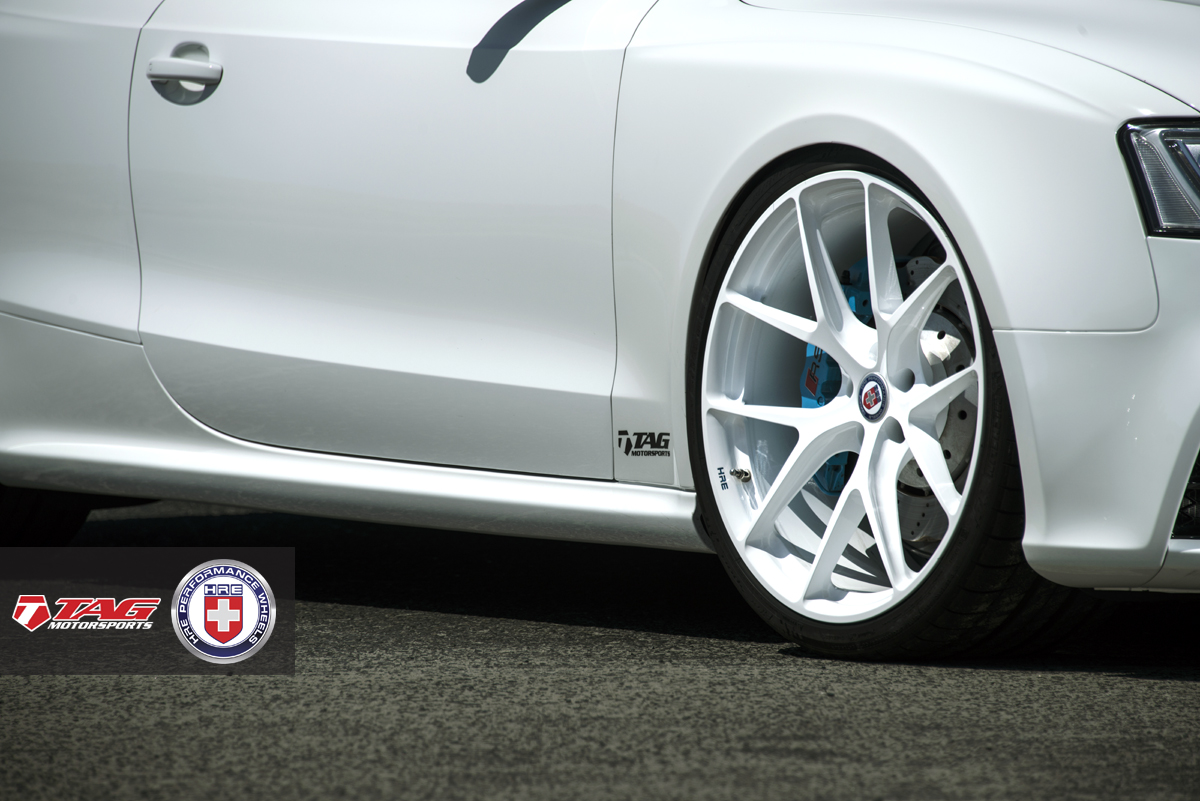 White Audi RS5 on HRE Wheels Looks Classy - Photo Gallery ...