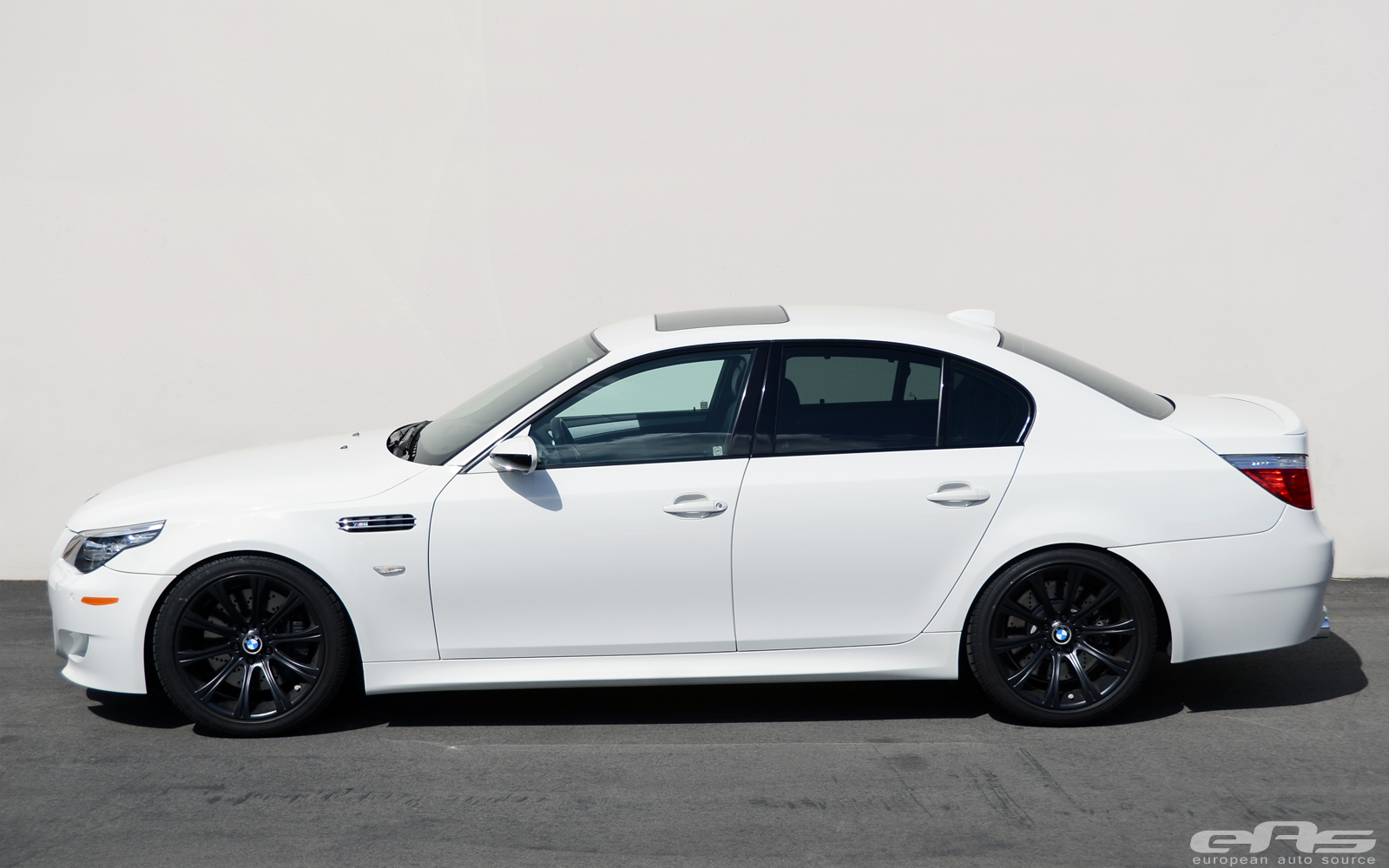 White BMW E60 M5 Receives Spacers and Custom Springs at ...