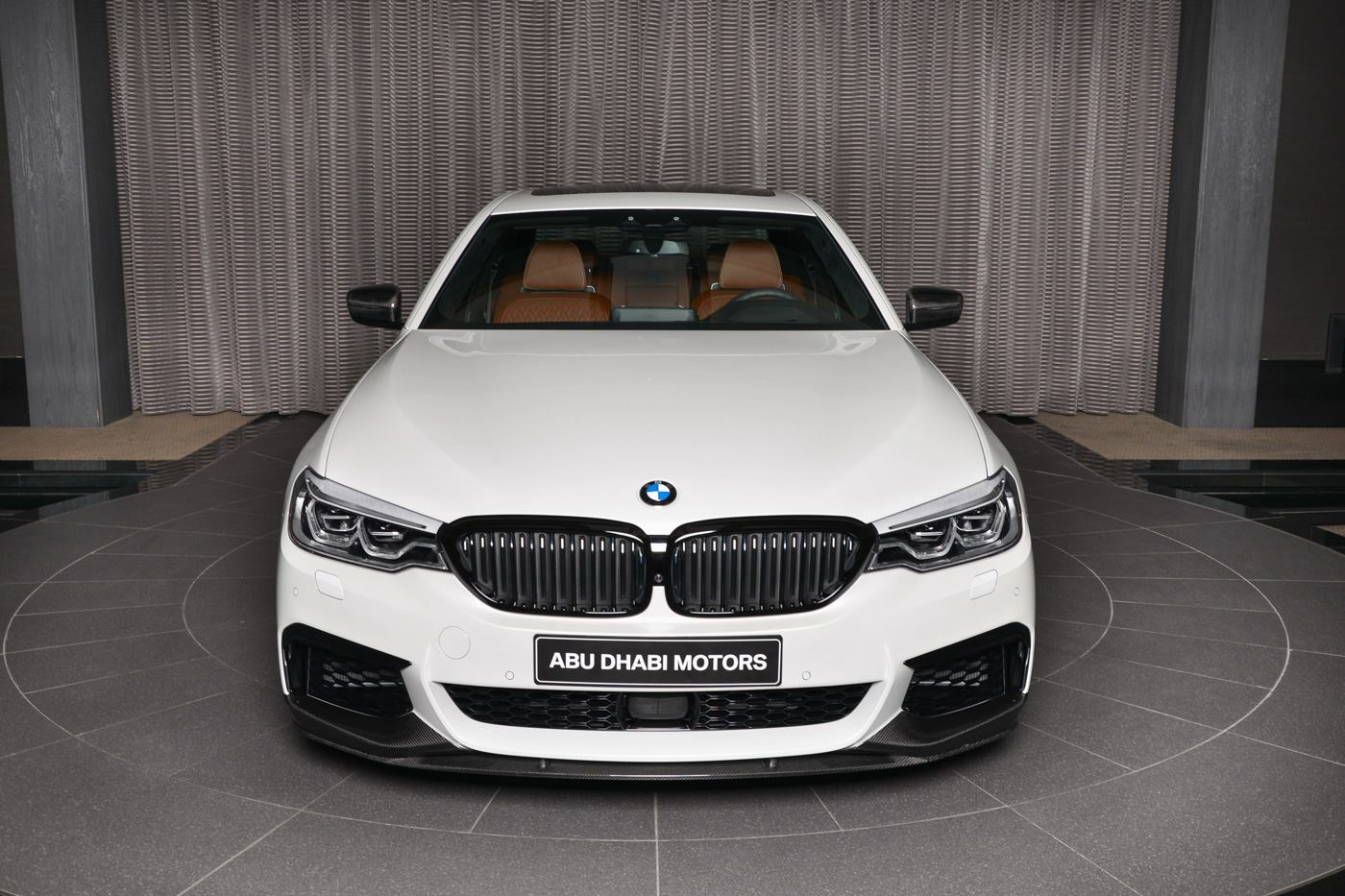 White BMW M550i xDrive With M Performance Body Kit Is a ...