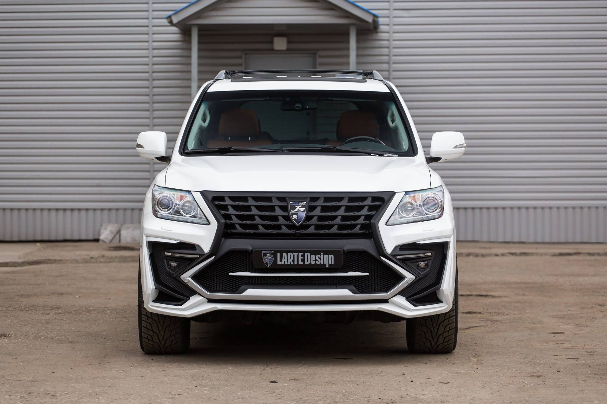 White Lexus Lx 570 With Larte Quot Alligator Quot Tuning Kit Looks