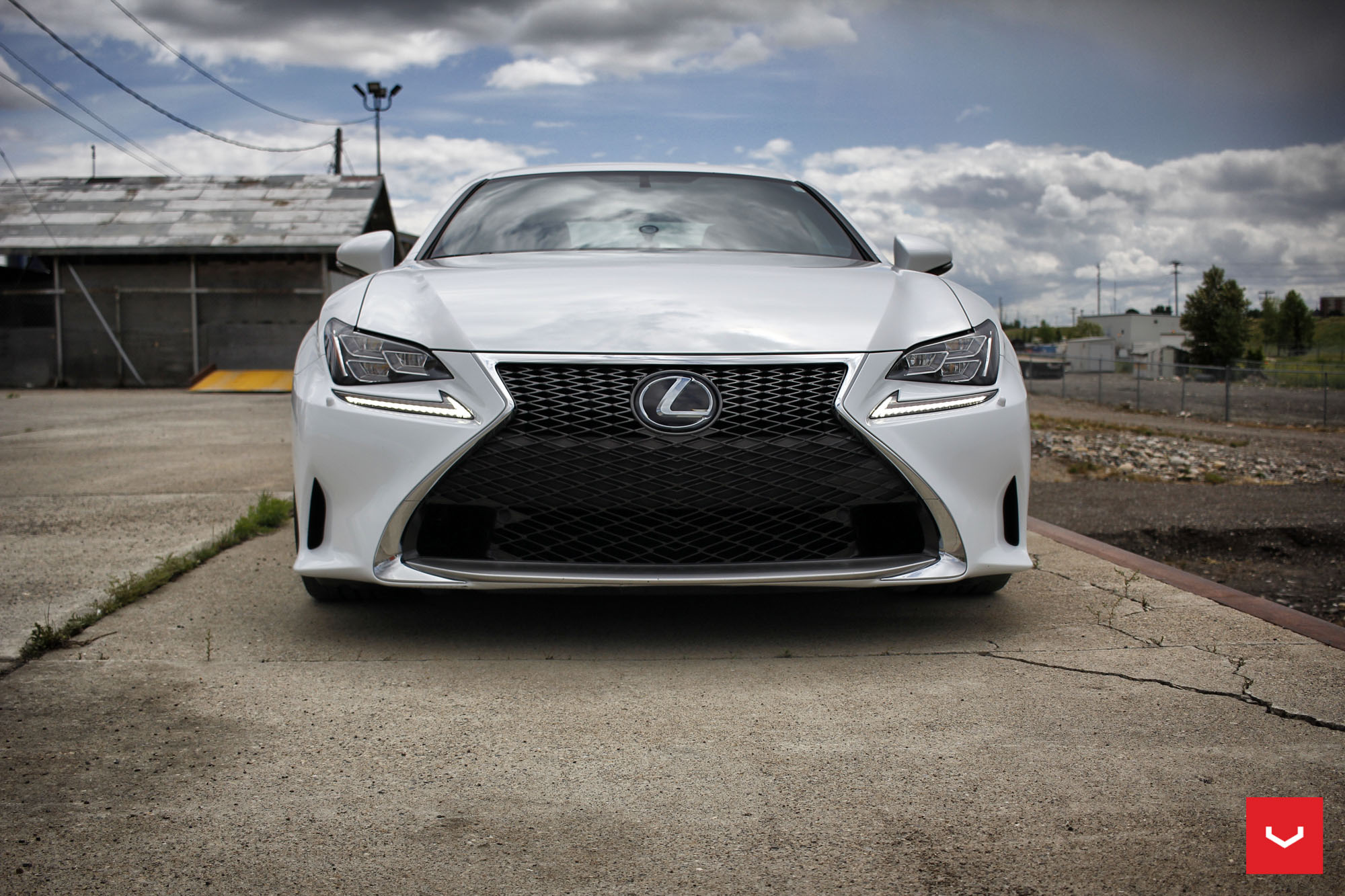 Lexus F Sport >> White Lexus RCF on Vossen Wheels Has the Look of a Cult Car - autoevolution