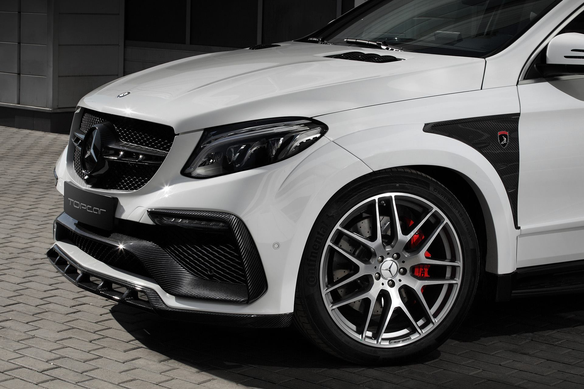 White Mercedes Gle Coupe 63s With Topcar Inferno Kit Has