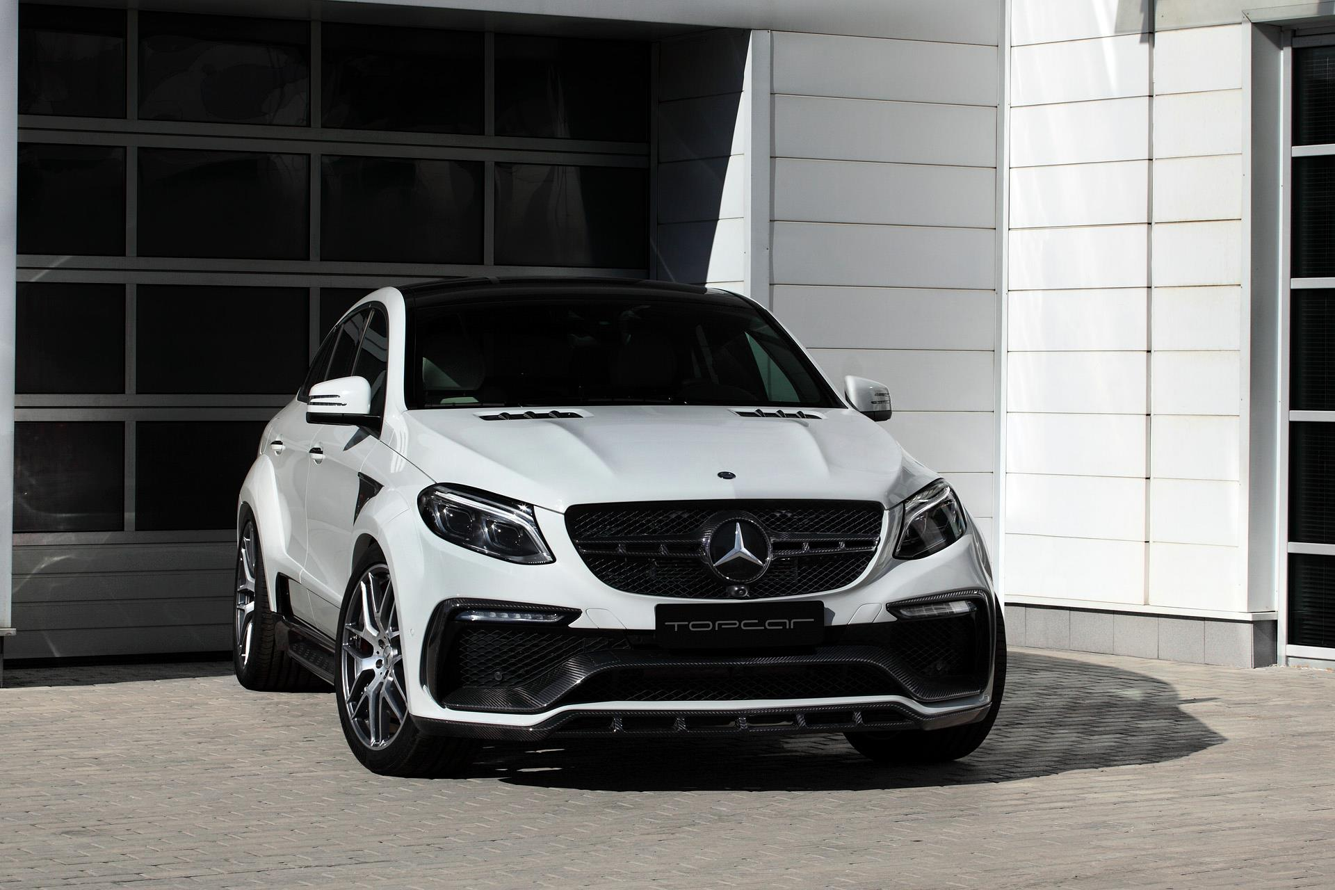 White Mercedes GLE Coupe 63S with Topcar Inferno Kit Has ...
