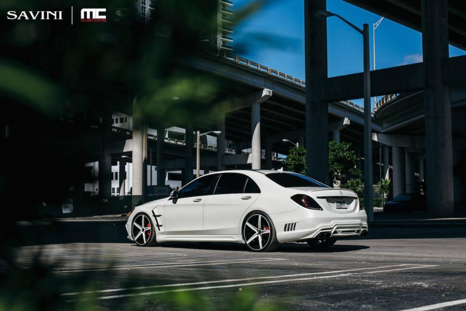 White Mercedes S550 Gets Wald Body Kit And Savini Wheels
