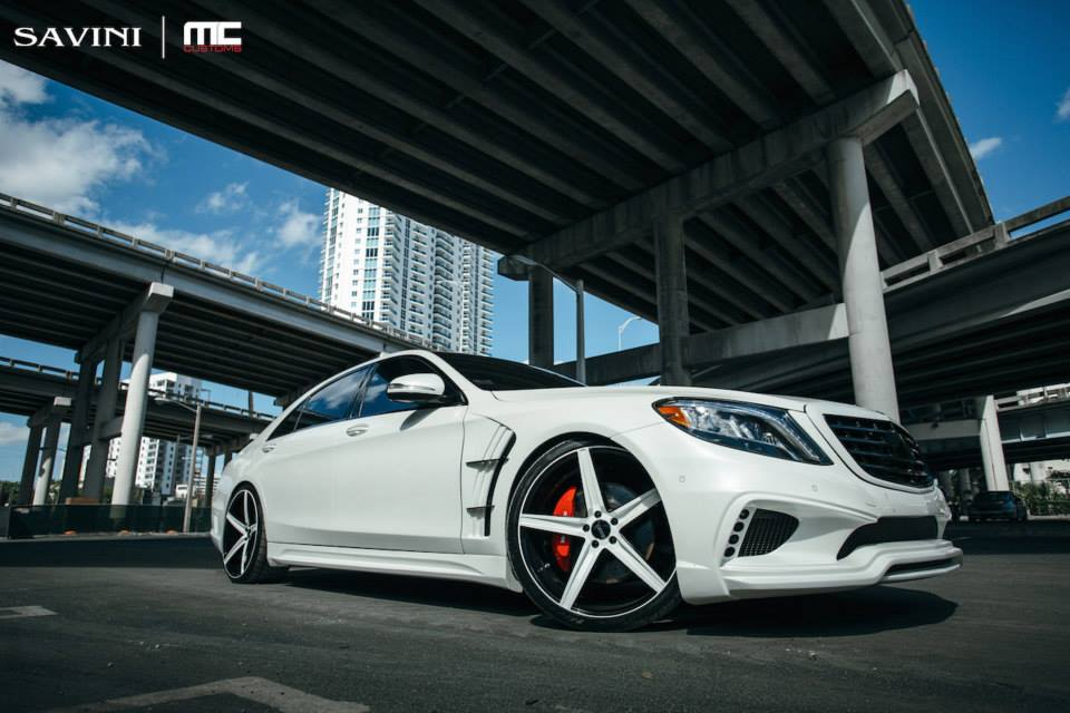 White Mercedes S550 Gets Wald Body Kit And Savini Wheels