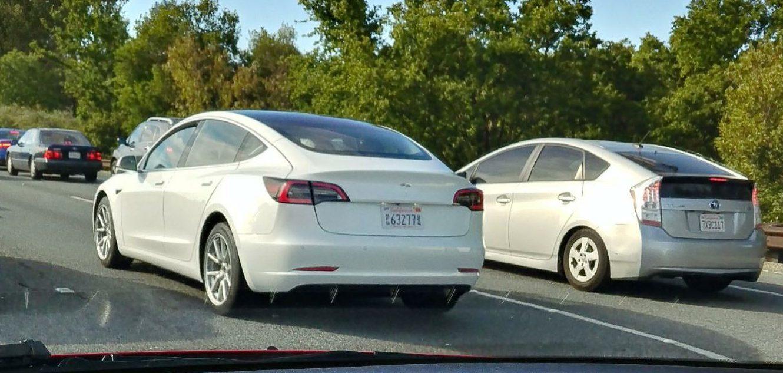 Alto New Model 2017 >> White Tesla Model 3 Prototype Spotted in Palo Alto Reveals Every Line - autoevolution