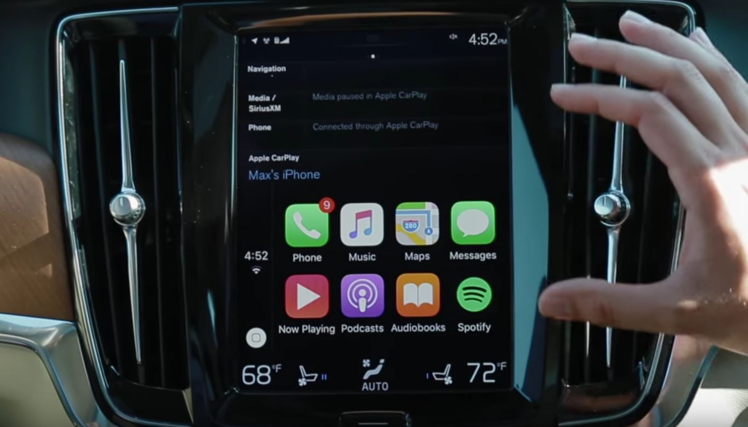 Connectivity features include apple carplay and android auto -  Why Volvo Thinks Its Apple Carplay And Android Auto Are The Best