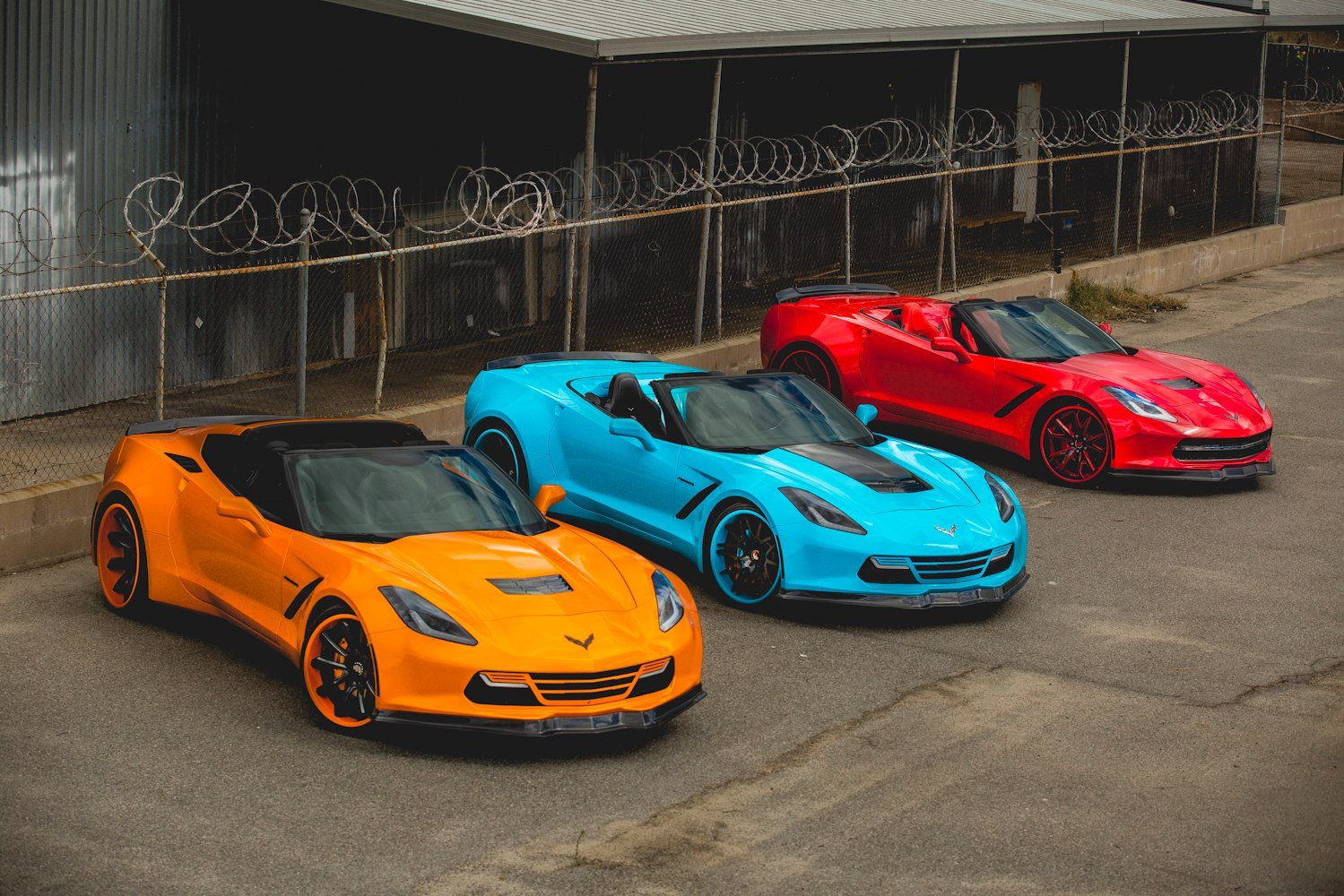 Widebody C7 Corvette Trio Looks Poisonously Sexy