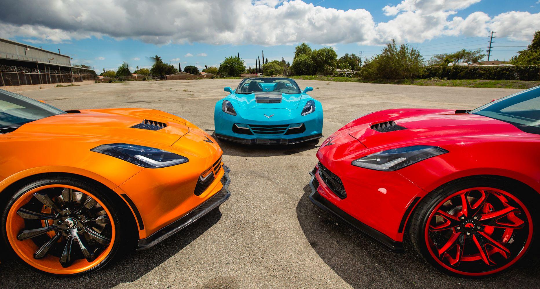 Widebody C7 Corvette Trio Looks Poisonously Sexy