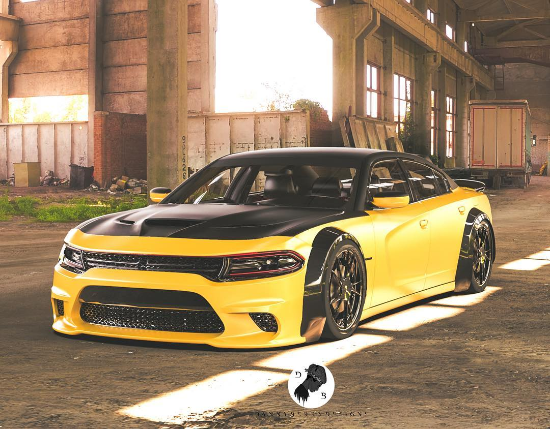 Dodge Charger Hellcat Black And Yellow Is Bad To The Bone Autoevolution
