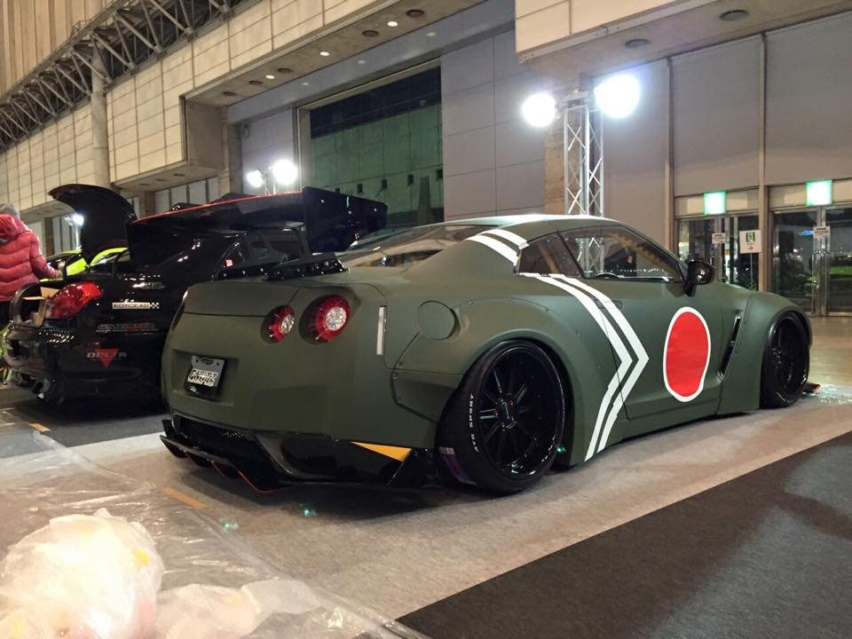 Widebody Nissan Gt R Does A Mitsubishi Zero Impersonation