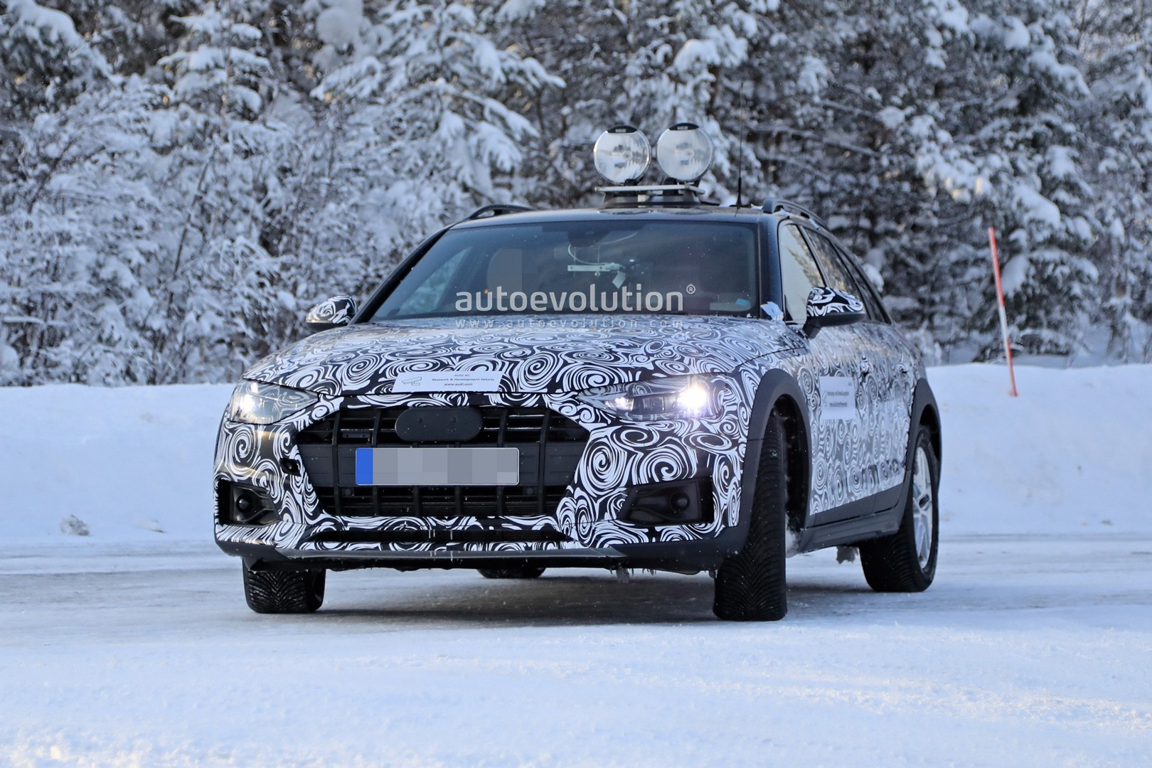 winter spyshots audi a4 allroad facelift getting ready for 2020 adventure autoevolution. Black Bedroom Furniture Sets. Home Design Ideas