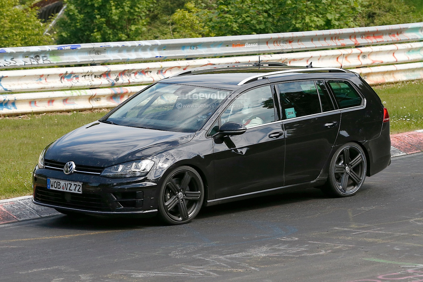 Second Golf R Estate Prototype Spotted with Quad Exhaust - autoevolution