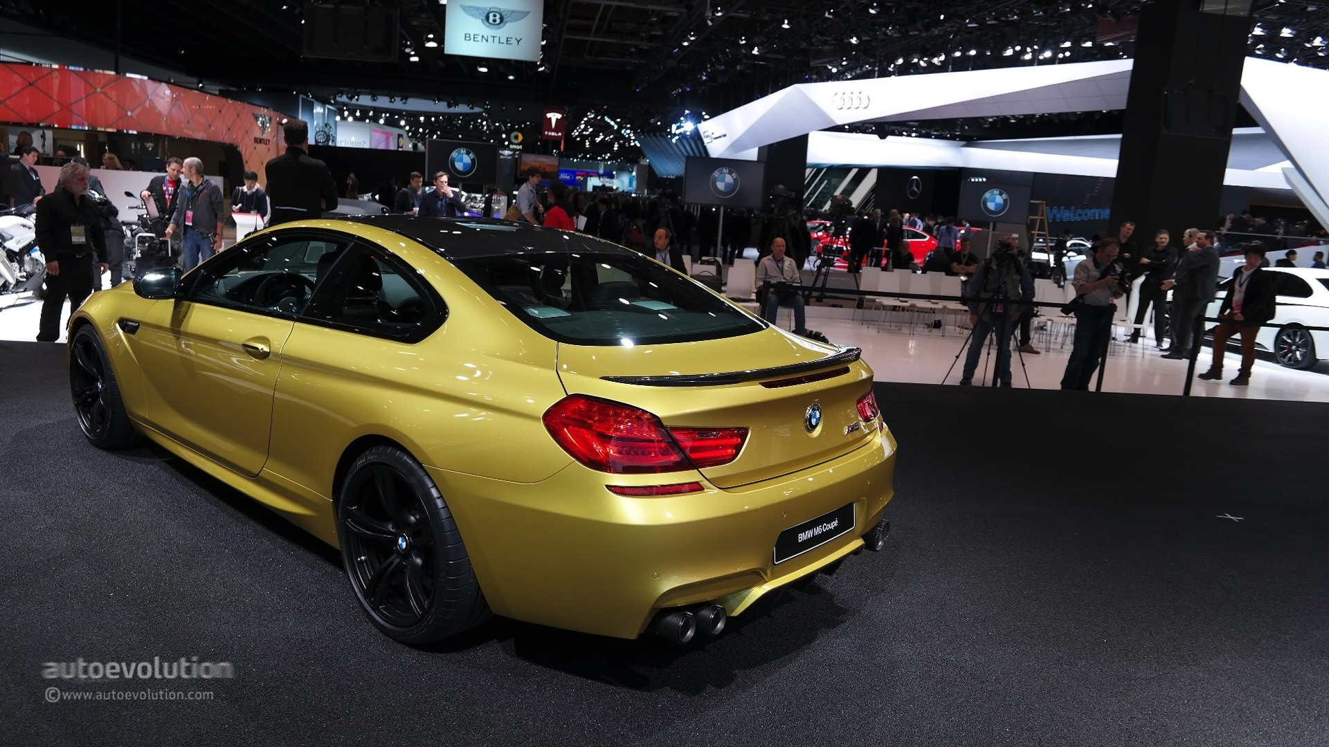 World Debut For 2015 Bmw M6 Lci In Austin Yellow At The Detroit Auto Show Live Photos