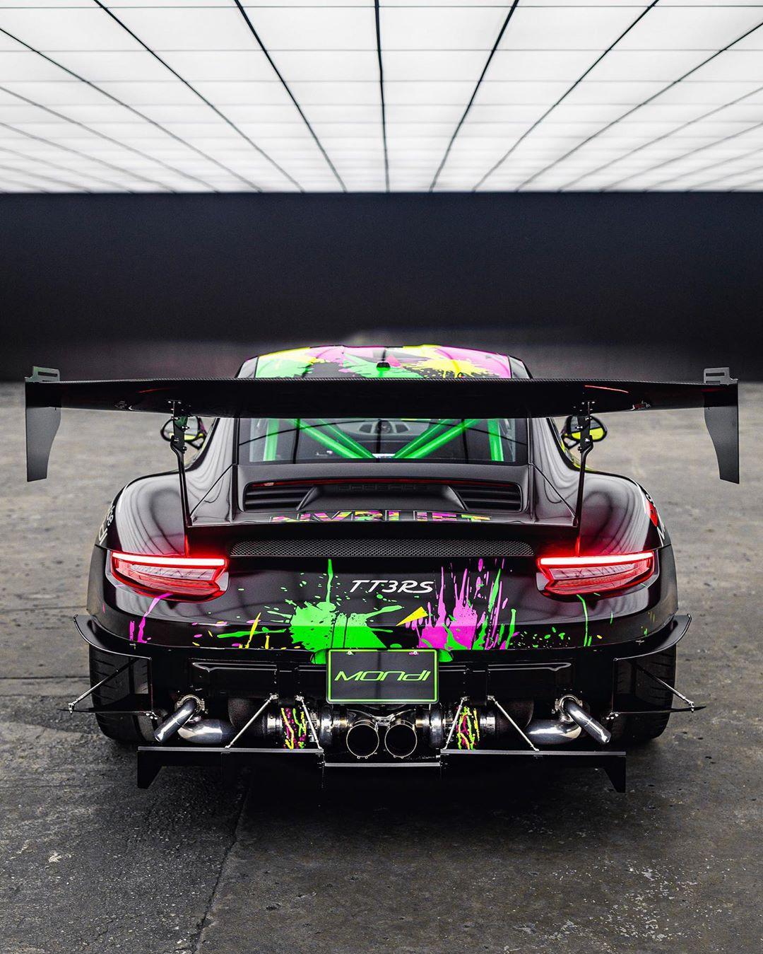Porsche 911 Turbo Gt3: World's First Twin-Turbo Porsche 911 GT3 RS Drifts Around