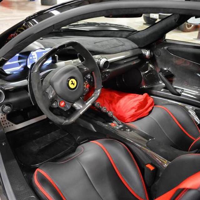 World S First Matte Black Ferrari Laferrari Is Superhero