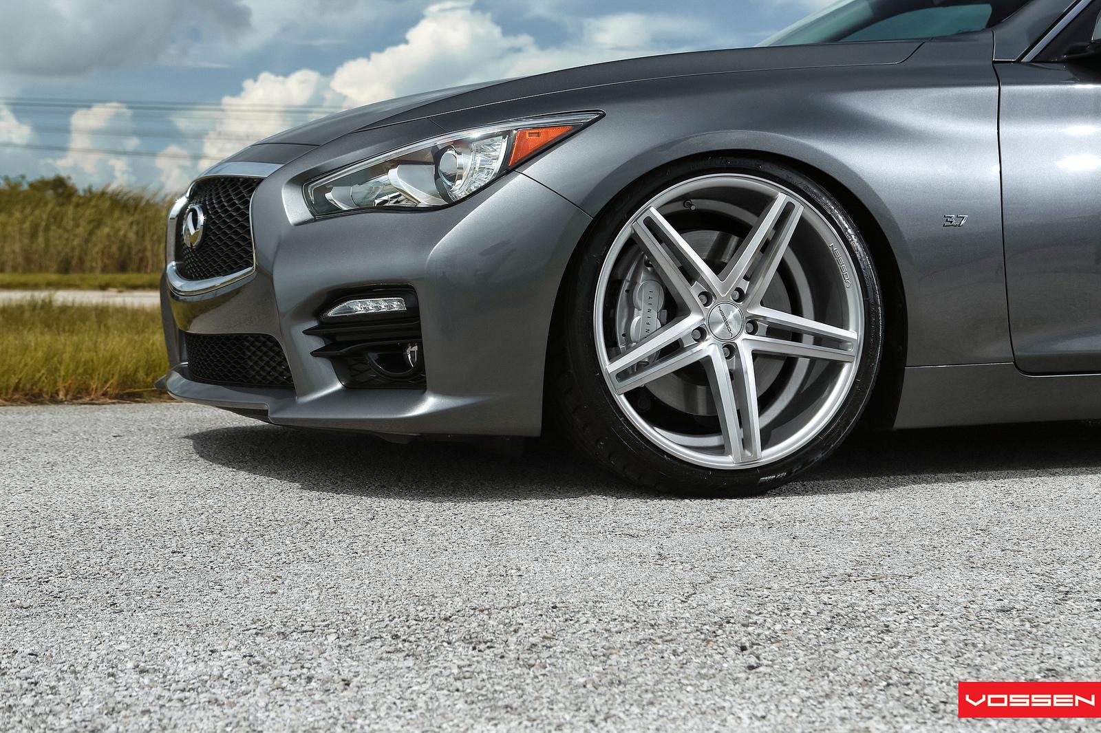 2014 infiniti q50 s on 20 vossen cv5 concave wheels rims