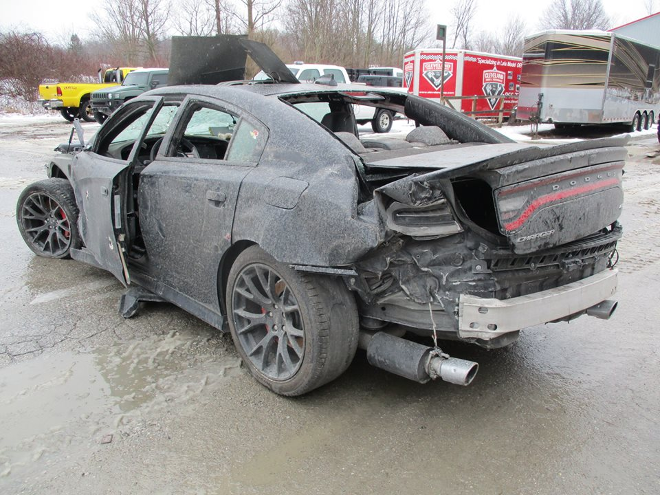 wrecked dodge charger hellcat shows up for sale is full. Black Bedroom Furniture Sets. Home Design Ideas