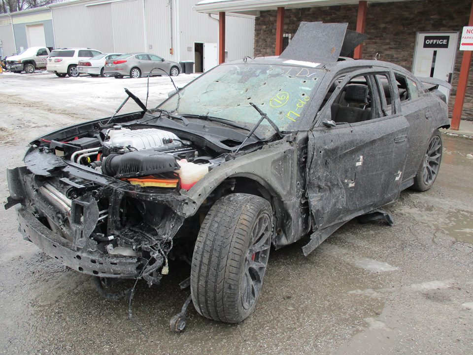 Wrecked Dodge Charger Hellcat Shows Up For Sale Is Full Of Bullet Holes Autoevolution