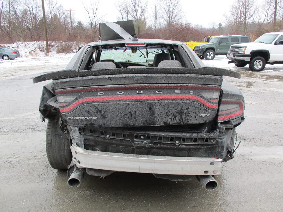 Wrecked Dodge Charger Hellcat Shows Up For Sale Is Full