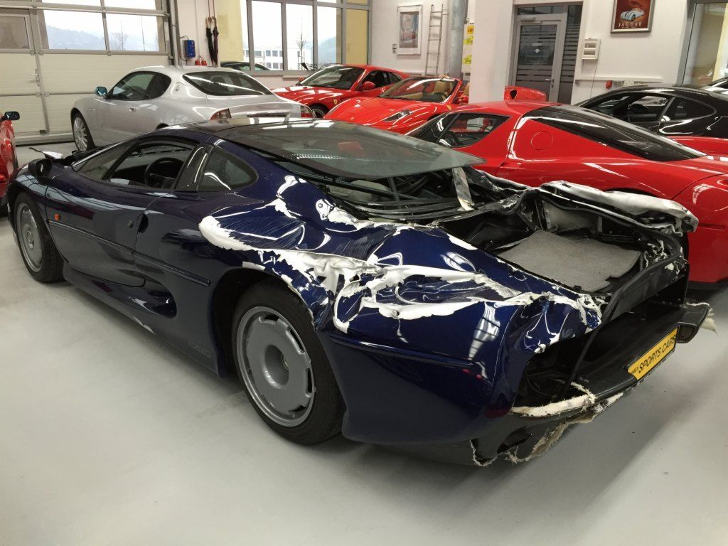 Wrecked Jaguar XJ220 Supercar Selling for €200,000 in Germany ...