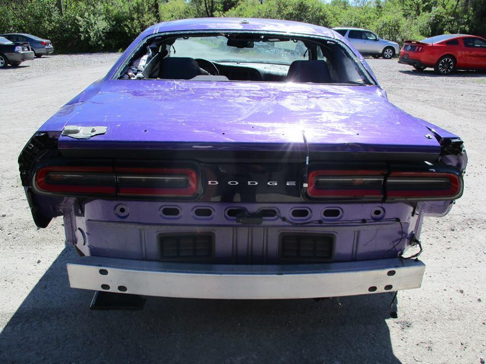 Wrecked Plum Crazy Dodge Challenger Hellcat Organ Donor Has Just