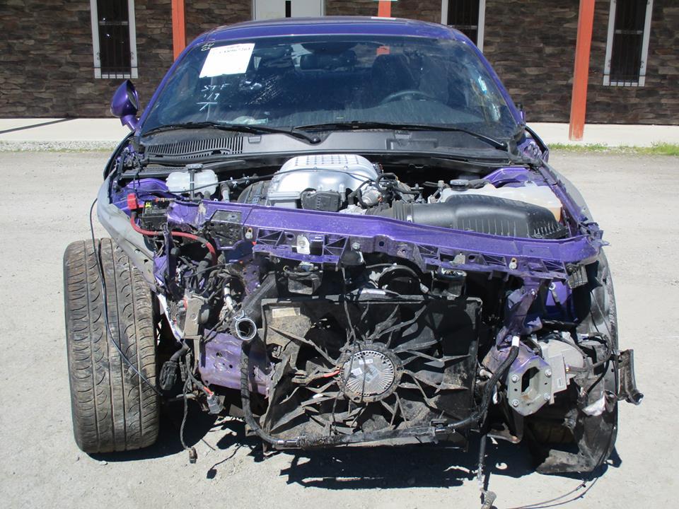 Wrecked Plum Crazy Dodge Challenger Hellcat Organ Donor