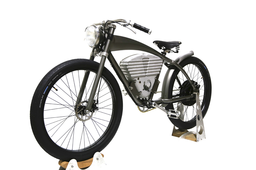 wwi inspired icon electric bicycle shows vintage. Black Bedroom Furniture Sets. Home Design Ideas