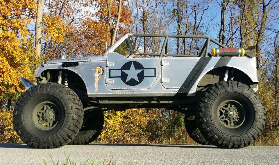 WWII Themed Jeep Has Machine Gun Turbos and Riveted ...