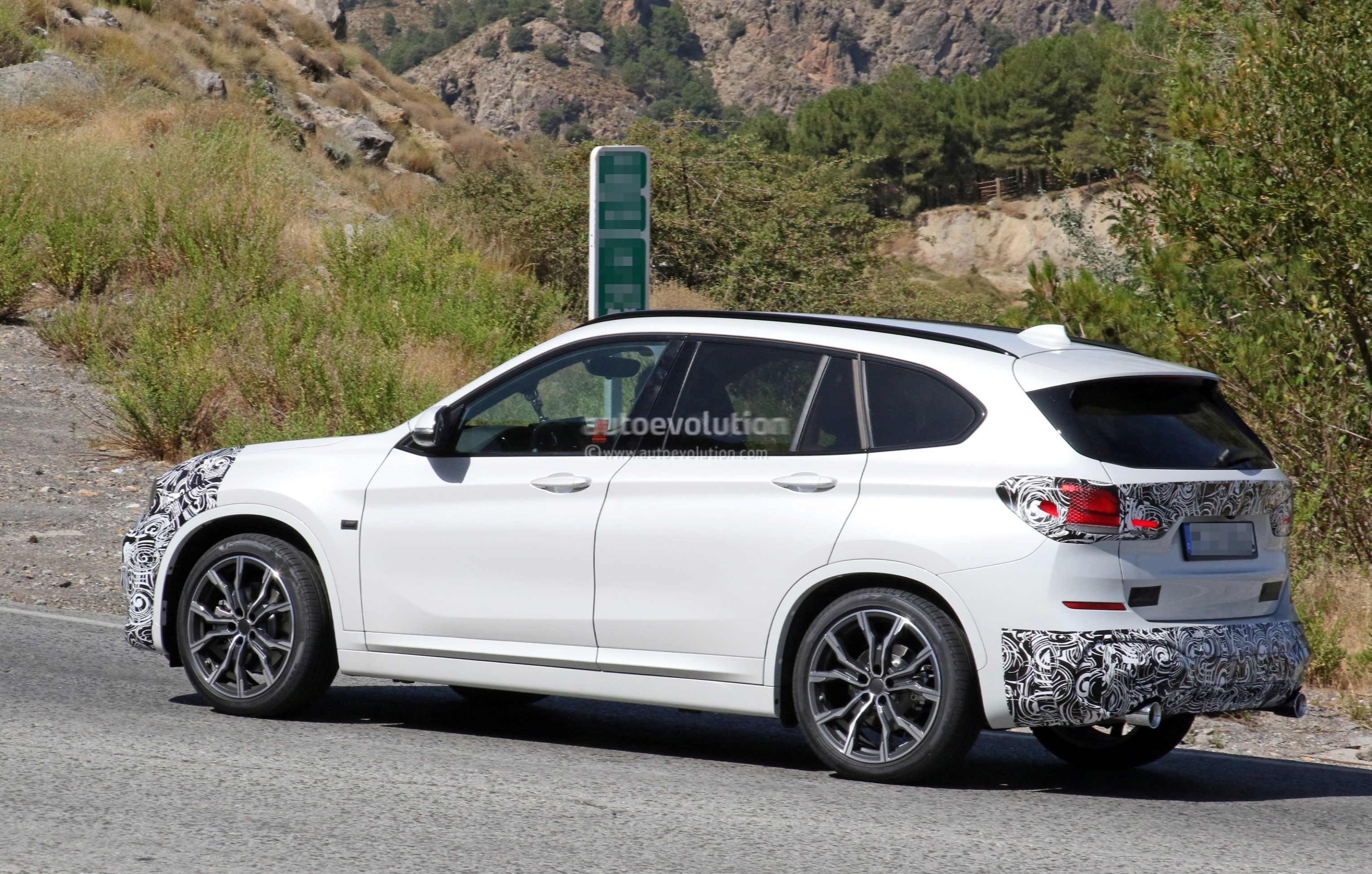 2019 bmw x1 lci spied hotweather testing in europe