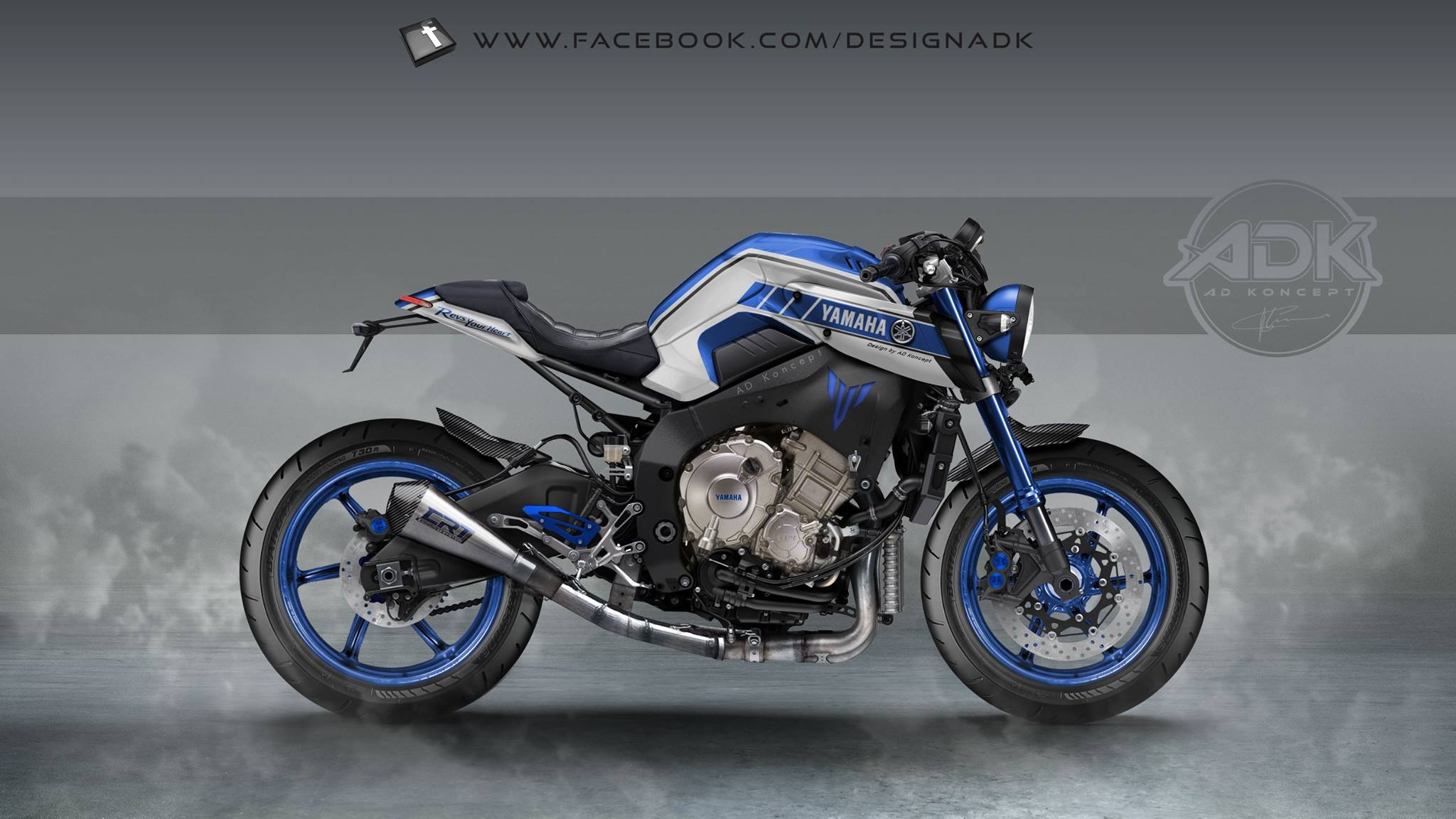 Rendering Of The Custom Yamaha MT 10
