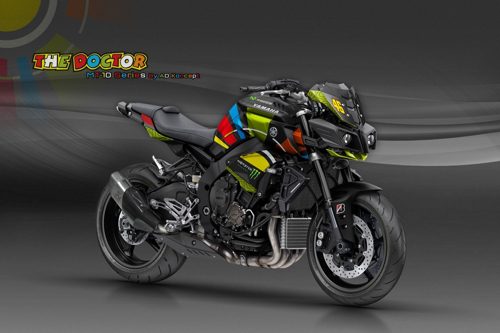 yamaha mt10 in valentino rossi livery and more from ad