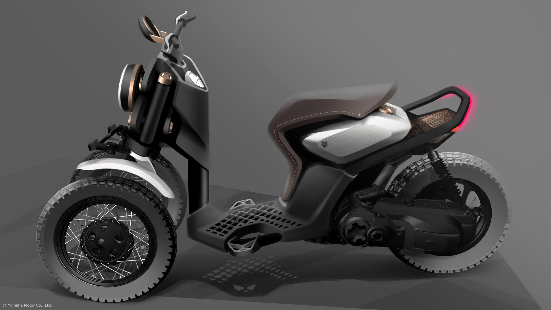 yamaha concept scooter three wheeled concepts shows autoevolution dirty ready models bikes