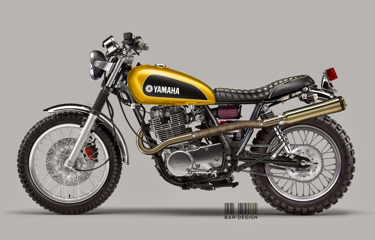 yamaha sr400 scrambler project by luca bar autoevolution. Black Bedroom Furniture Sets. Home Design Ideas