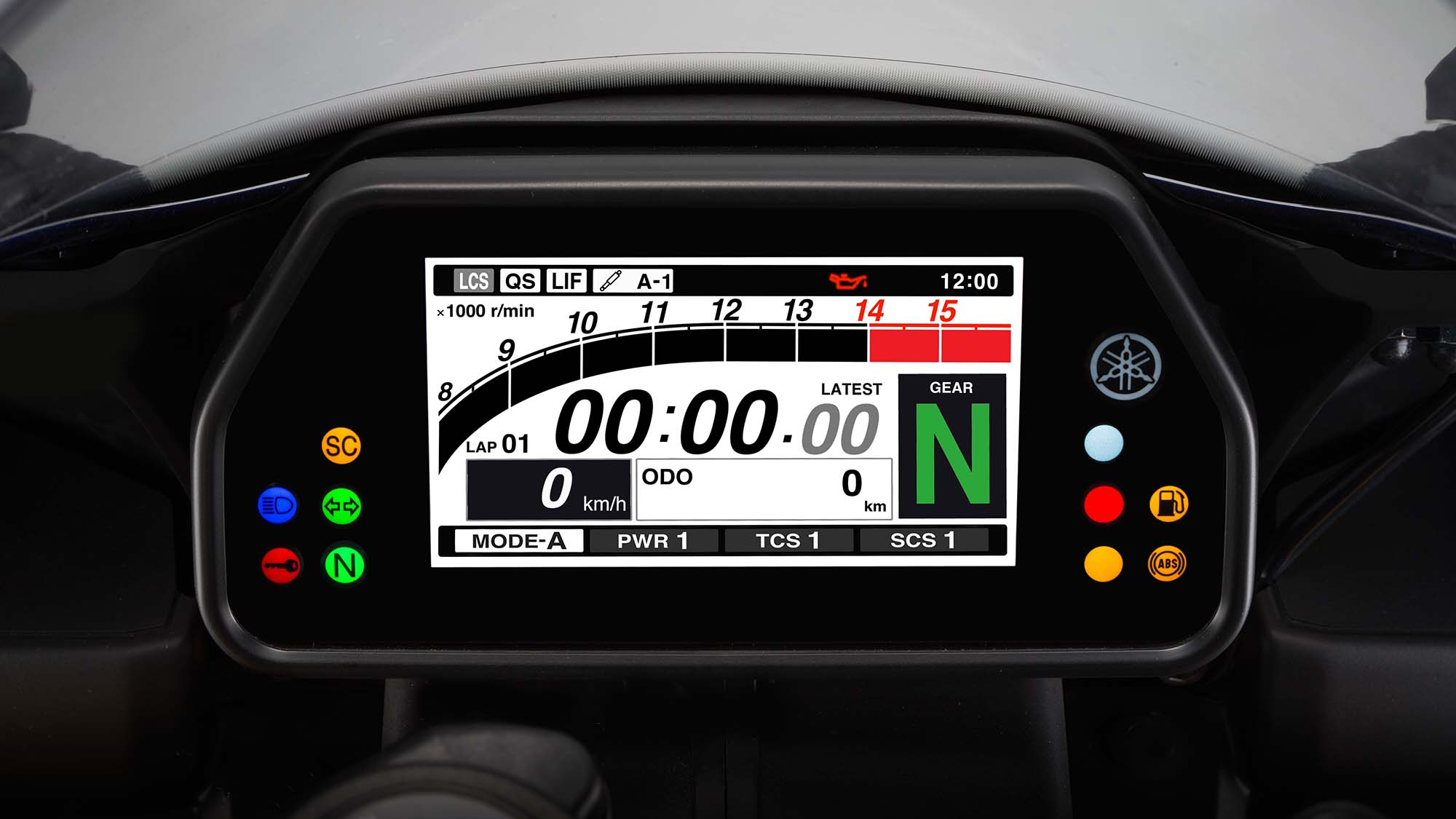 Yamaha YZF R1 60th Anniversary Edition Dash