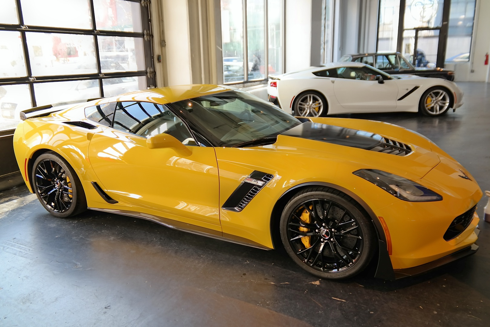 Yellow 2015 Corvette Z06 Coupe Spotted At New York Event