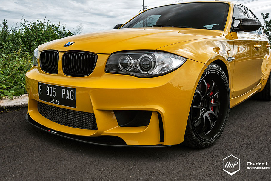 Yellow Fascination: BMW 1M Hatchback - autoevolution