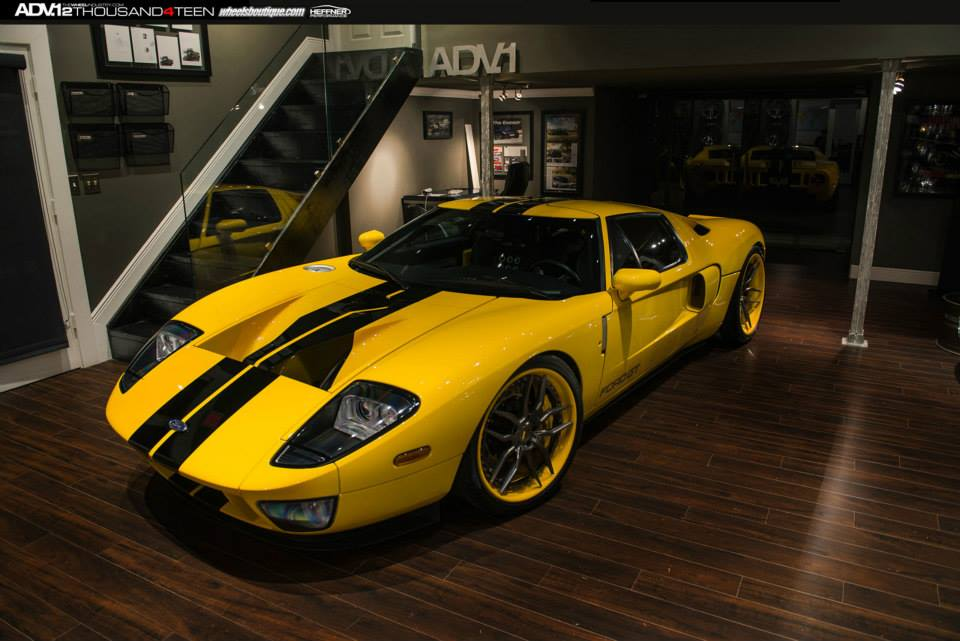 Yellow Ford Gt On Adv  Wheels