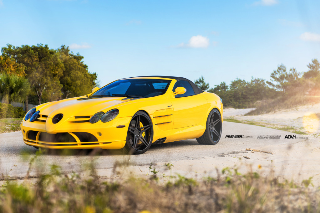 Bmw M3 Convertible >> Yellow Mercedes SLR Convertible by Renntech on ADV.1 Wheels - autoevolution