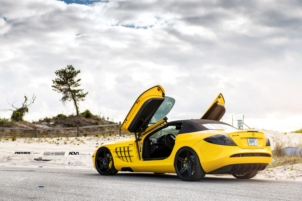 Yellow Mercedes Slr Convertible By Renntech On Adv 1 Wheels