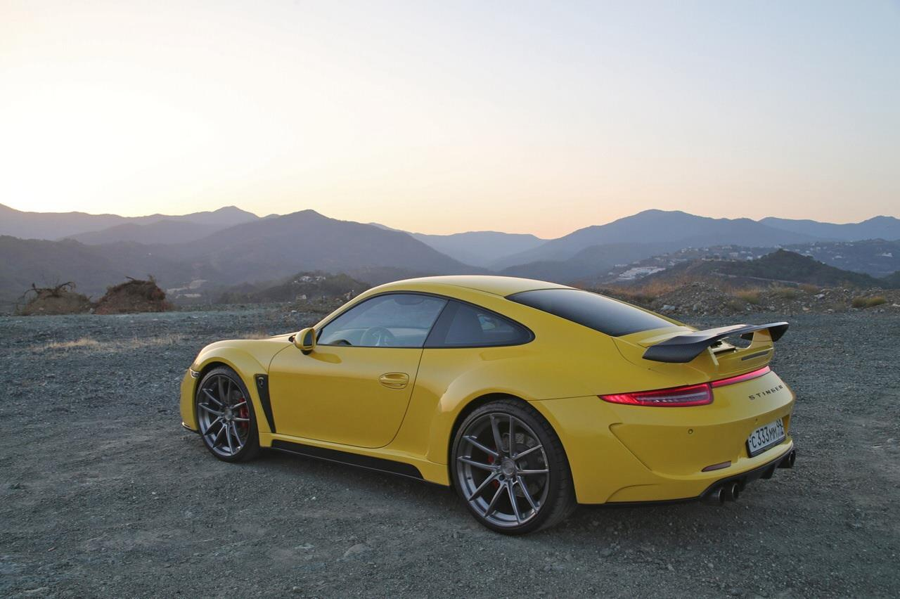 Yellow Porsche 911 Stinger by TopCar Hits Marbella - autoevolution