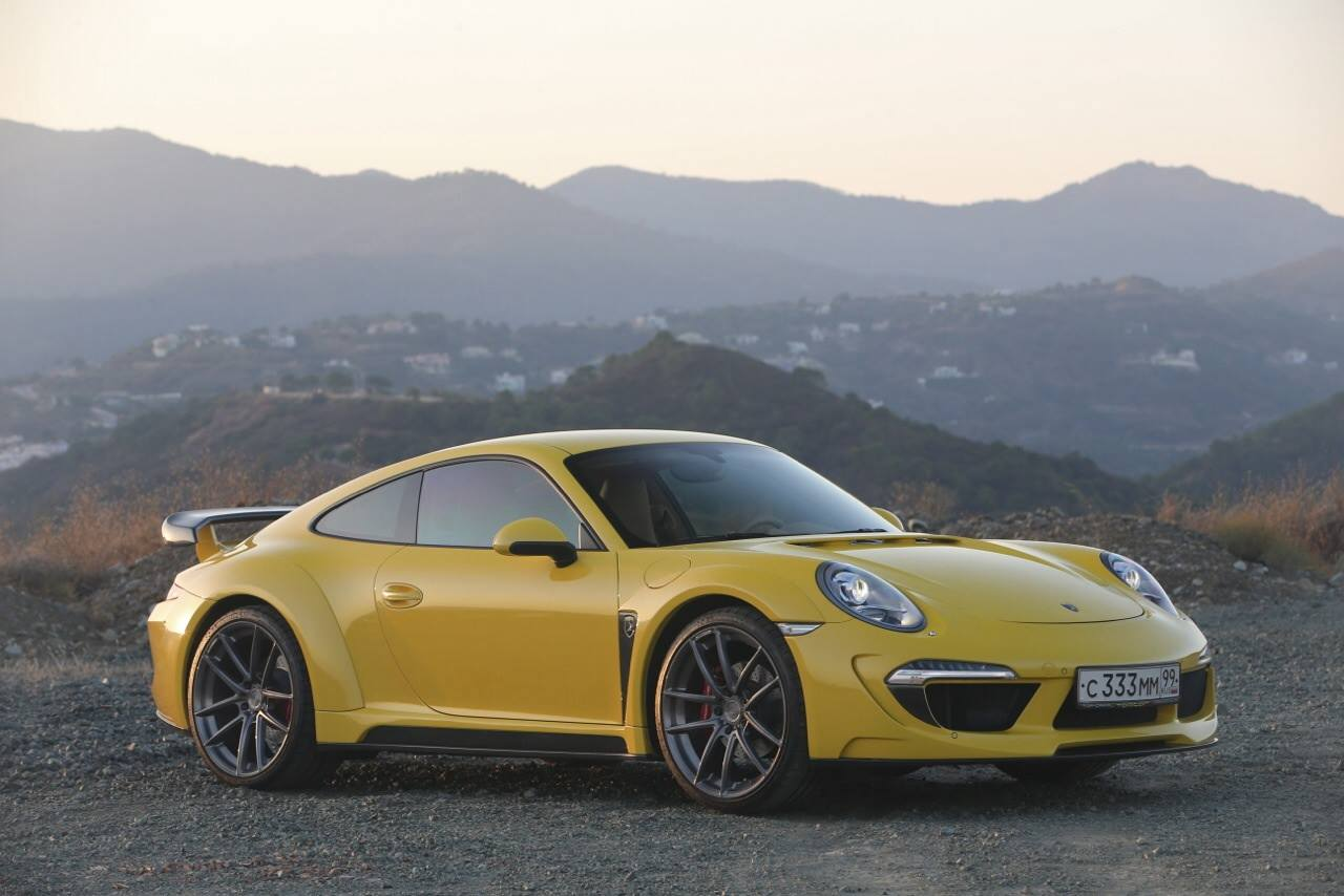 Yellow Porsche 911 Stinger By Topcar Hits Marbella