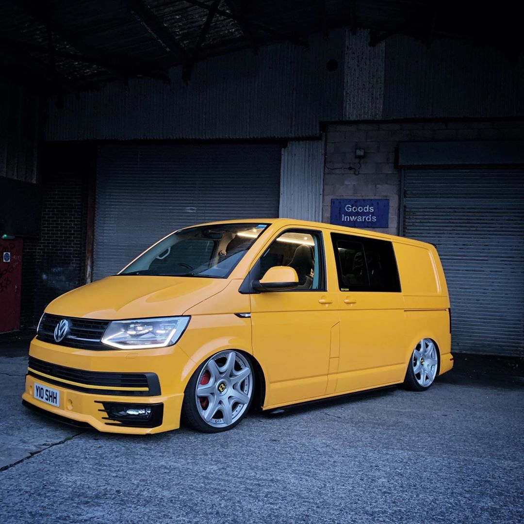 Yellow T6 Transporter On Bentley Wheels Looks Natural
